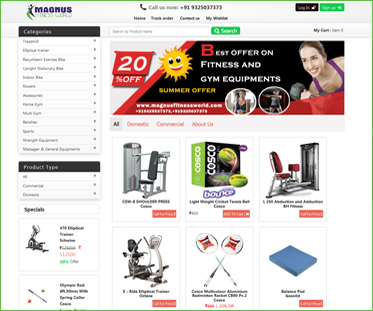 Fitness Equipment E-Portal