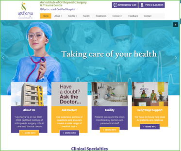 Orthopedic Hospital Website